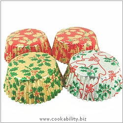 Foilcraft Xmas Muffin Cases. Original product image, © Cookability