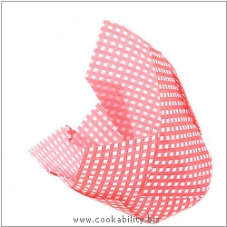 Easybake Tulip Muffin Wraps Red Gingham. Original product image, © Cookability
