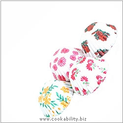 Easybake Floral Sweet Cases. Original product image, © Cookability