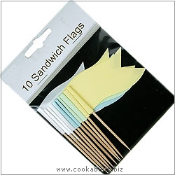 Cookability Sandwich Flags. Original product image, © Cookability