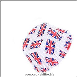 Easybake Union Jack Jubilee Bun Cases. Original product image, © Cookability