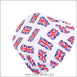 Easybake Union Jack Jubilee Muffin Cases. Original product image, © Cookability