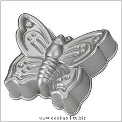 Platinum Butterfly Cake Pan. Derived work from original images, © Nordicware, used with permission.