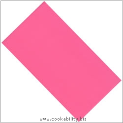 Cookability Plastic Tablecover Pink. Original product image, © Cookability