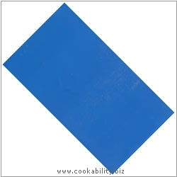 Cookability Plastic Tablecover Blue. Original product image, © Cookability