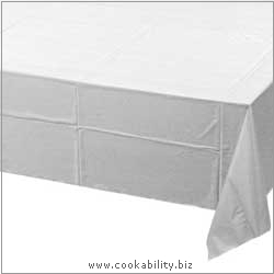Cookability Poly Tissue Table Cloth. Original product image, © Cookability