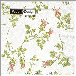 Triple-Ply Rose Buds Napkins. Original product image, © Cookability