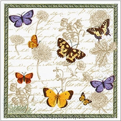 Triple-Ply Vintage Butterflies Napkins. Original product image, © Cookability