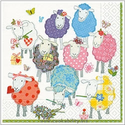 Triple-Ply Patchwork Sheep Napkins. Original product image, © Cookability