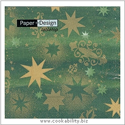 Triple-Ply Stars Forest Geen Napkins. Original product image, © Cookability