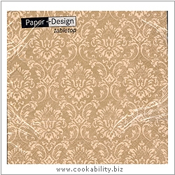 Triple-Ply Ornament Gold  Napkins. Original product image, © Cookability