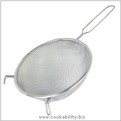 Cookability Round Sieve. Original product image, © Cookability