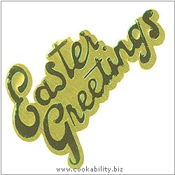 Cookability Easter Foil Cake Decorations. Original product image, © Cookability