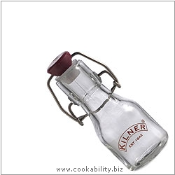 Kilner Mini Clip-top Preserve Bottle. Derived work from original images, © Rayware Ltd, used with permission.