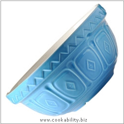 Traditional Blue Mixing Bowl. Original product image, © Cookability