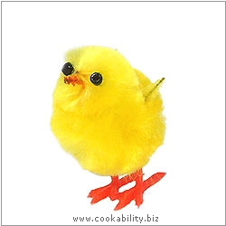 Cookability Small Easter Chick Cake Decoration. Original product image, © Cookability