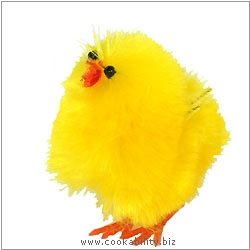 Cookability Medium Easter Chick Cake Decoration. Original product image, © Cookability