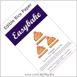 Easybake Edible Rice Paper. Original product image, © Cookability