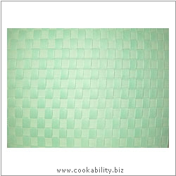 Woven Tablemat Pastel Green 22mm weave.. Original product image, © Cookability