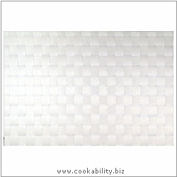 Woven Tablemat White 22mm weave.. Original product image, © Cookability