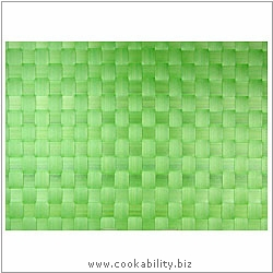 Woven Tablemat Apple Green 22mm weave.. Original product image, © Cookability