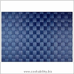 Woven Tablemat Blue Grey 22mm weave.. Original product image, © Cookability