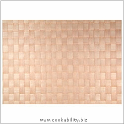 Woven Tablemat Cream 22mm weave.. Original product image, © Cookability