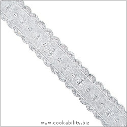 Cookability Silver Foil Cake Banding. Original product image, © Cookability