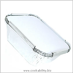 Cookability Foil Container with lid.. Original product image, © Cookability