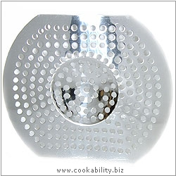 Cookability Sink Strainer. Derived work from original images, © Thomas Plant 2006 and prior, used with permission.