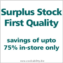 Cookability Surplus Stock. Original product image, © Cookability