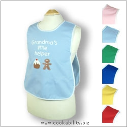 Child's Tabard Grandmas Little Helper Age 2-3. Original product image, © Cookability