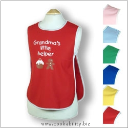 Child's Tabard Grandmas Little Helper Age 4-5. Original product image, © Cookability