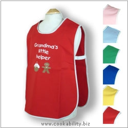 Child's Tabard Grandmas Little Helper Age 6-7. Original product image, © Cookability