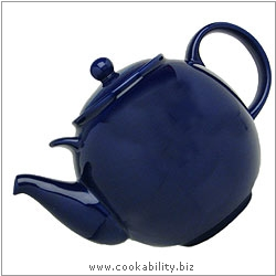 London Pottery Colbalt Teapot. Original product image, © Cookability