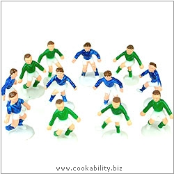 Cookability Football Team Twelve Players. Original product image, © Cookability