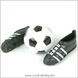 Cookability Football and Boots. Original product image, © Cookability