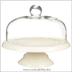 Kitchencraft Cake Stand with Glass Dome. Derived work from original images, © Thomas Plant 2006 and prior, used with permission.