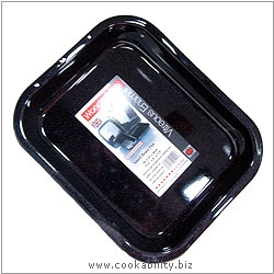 Vitreous Enamel Roast Pan. Original product image, © Cookability