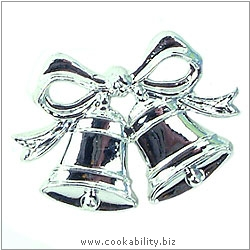 Cookability Bell and Bow Silver. Original product image, © Cookability