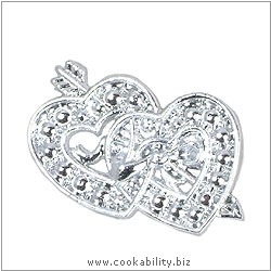 Cookability Dual Hearts Silver. Original product image, © Cookability