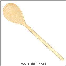 Cookability Wooden Spoon. Original product image, © Cookability