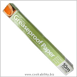 Cookability Greaseproof Paper Roll. Original product image, © Cookability