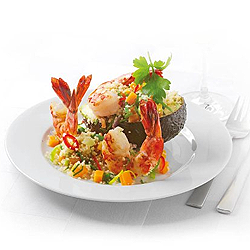 Photo of Vegetable taboule with shrimps and avocado