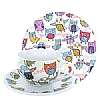Cookability Retro Owl Tea Set
