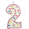 Culpitt Pink Birthday Numeral Candle - Two
