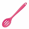 Silicone Tools Slotted Spoon Pink