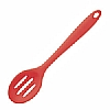 Silicone Tools Slotted Spoon Red
