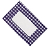 Cookability Jam Pot Labels Self Adhesive Blue Gingham