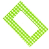 Cookability Jam Pot Labels Self Adhesive Green Gingham